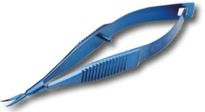 8mm Curved Vannas Scissor in Titanium